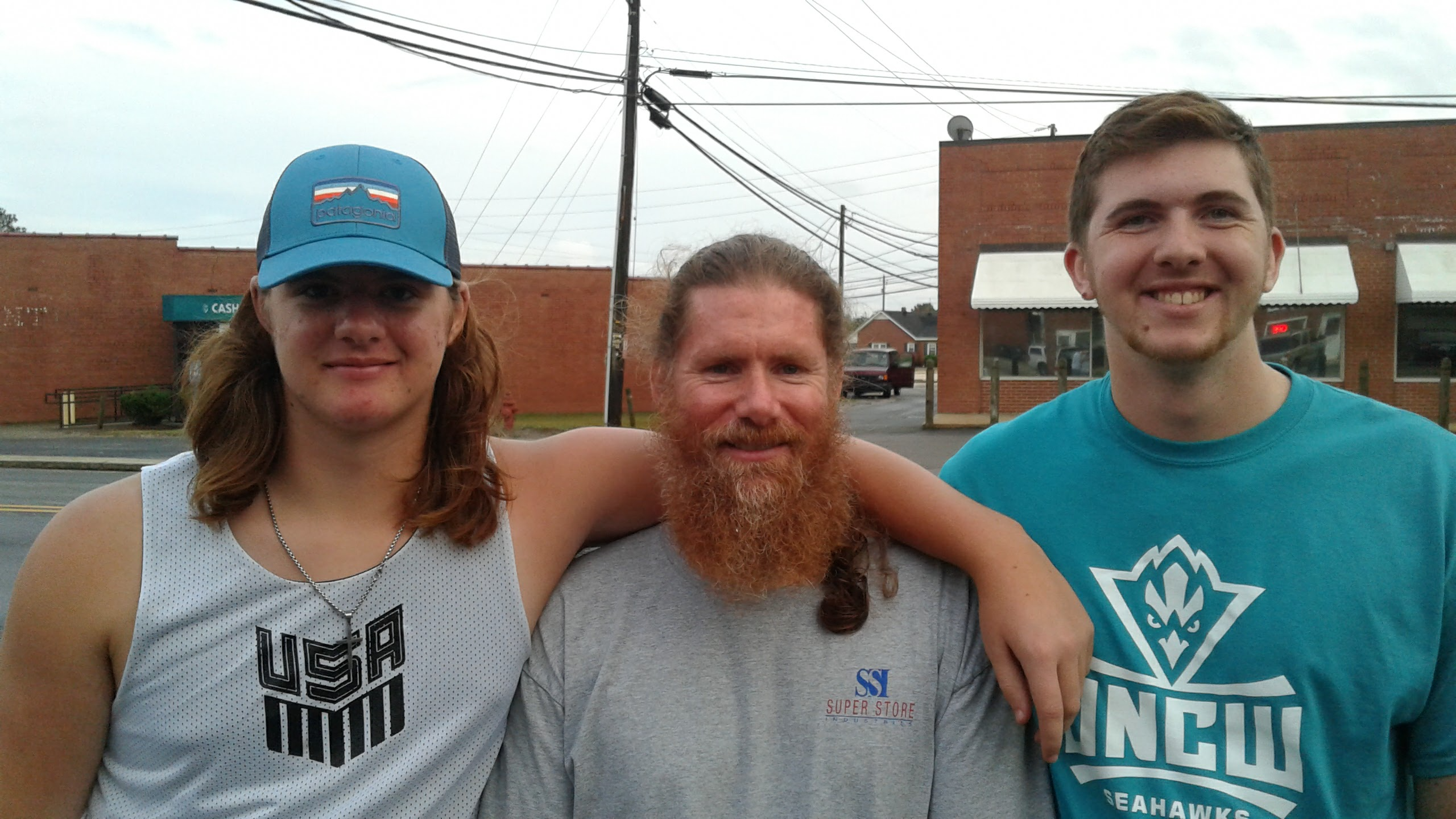Terry Furey with his two sons Brady, now 18, and Skylar, 21