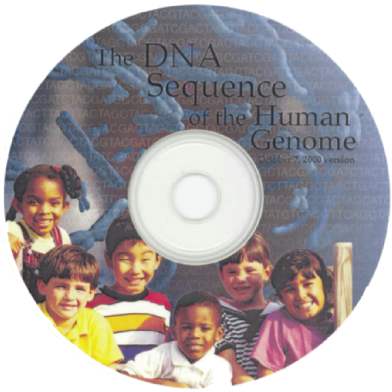 The draft of the human genome, assembled at UCSC, on a CD