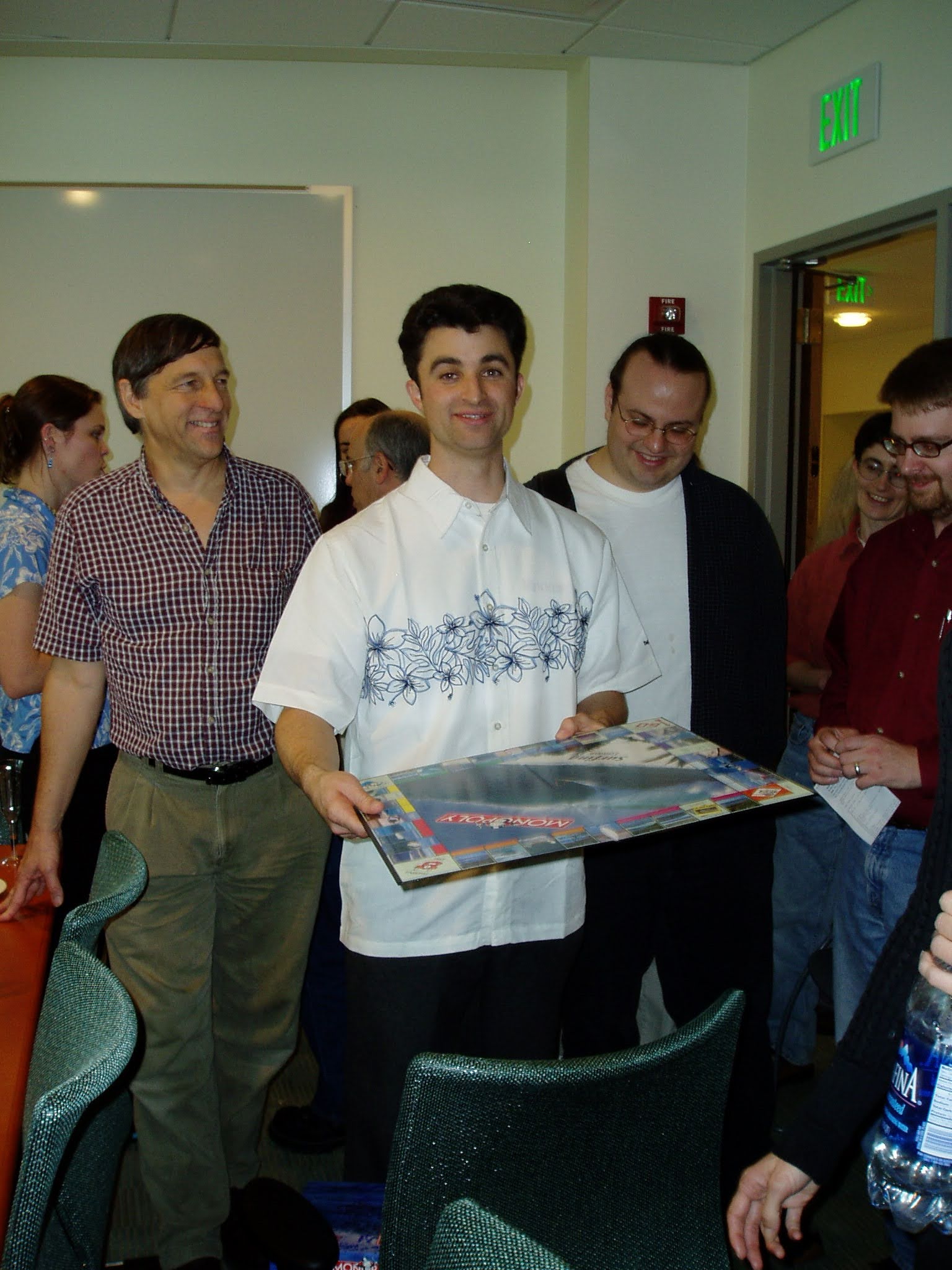 Associate Director of the Genome Browser Robert Kuhn and Chuck Sugnet at Chuck's dissertation defense in 2005