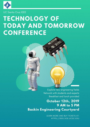 Event flyer for Technology of Today and Tomorrow Conference