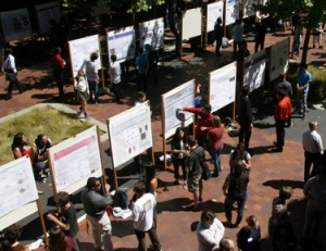 The Summer Research Symposium featured nearly 100 undergraduate research projects. (Photos by T. Stephens)
