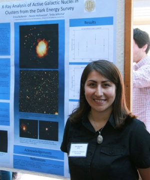 Erica Bufanda, a Julie Packard Summer Scholar, worked on an astrophysics research project with physics professor Tesla Jeltema.