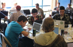 The first UC Santa Cruz hackathon was held at the Oakes Learning Center in April.