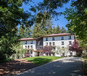 A snapshot of Cowell College in spring. Photo by Carolyn Lagattuta.