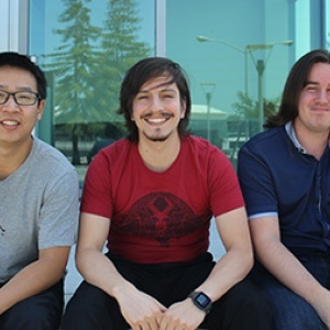 Graduate students Cong Liu, Pedro Cori, and Alex Formoso are the Trainwreck Games team.