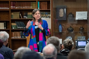 Distinguished historian Patricia Nelson Limerick (Cowell '72, American studies) spoke about the power of improvisation at a special event at Cowell College.