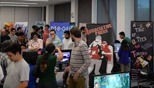 The Sammy Showcase is a fun, family-friendly game festival featuring videogames and virtual reality games created by UCSC students.