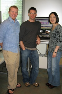 Graduate students Stephen Benz and Zack Sanborn and postdoc Jing Zhu, all from the Haussler lab, worked on the team that developed the UCSC Cancer Genomics Browser.