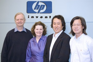 R. Stanley Williams, Sr. HP Fellow and Director of Quantum Science Research, HP Labs, Diane Cast, UCSC, Nobby Kobayshi, Assoc. Prof. EE; Tan Ha, Sr. R&D Engineer, Info. & Quantum Systems Lab, HP Labs
