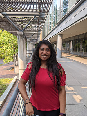 """Vaishnavi Dornadula envisioned Baskin Day as a bridge between members of the Baskin School of Engineering, the community of UCSC, Santa Cruz community members, and the alumni. """"It was also to help students through workshops and networking opportunities throughout the event."""""""