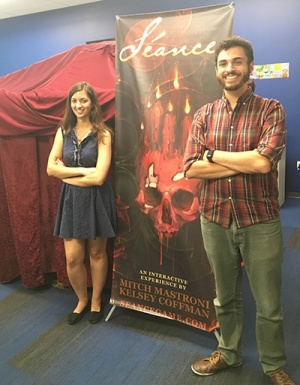 Undergrads Kelsey Coffman and Mitch Mastroni created Séance, one of four games created by UC Santa Cruz students that are up for awards at the IndieCade Festival.