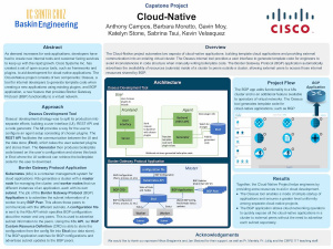 CISCO Cloud Networking Poster