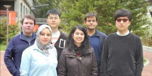 DYF Award Recipients (left to right): Charles Cole, Shereen Oraby, Jude Zhu, Shweta Jain, Rakshit Agrawal, and Huazhe Wang.