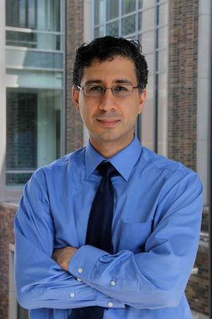 Professor Sina Farsiu, Baskin Engineering alumnus, at Duke University