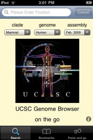 The genomepad interface to genome.ucsc.edu